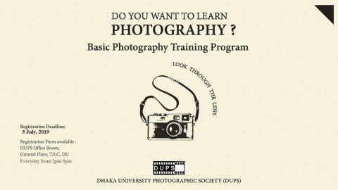 Workshop on Basic Photography Training Program 2019 in Dhaka
