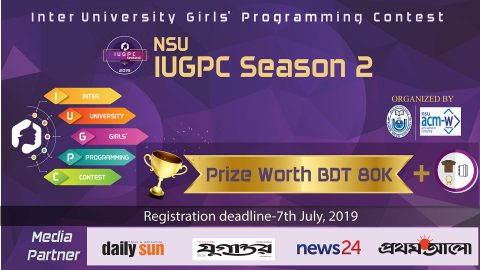 NSU Inter University Girls' Programming Contest- Season 2, 2019 in Dhaka