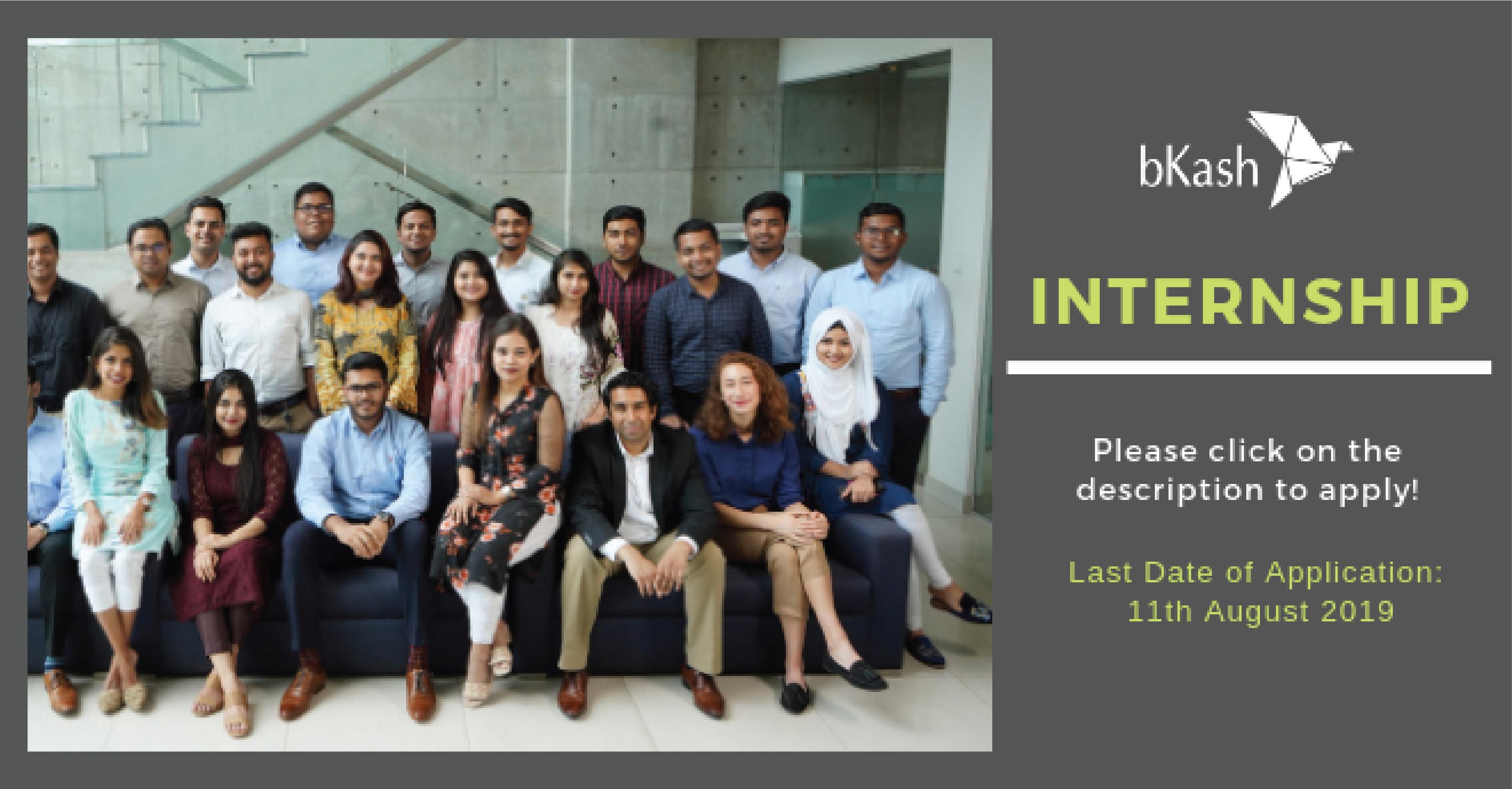 Fall Internship Opportunity in bKash  APPLY ASAP !