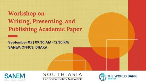 SANEM organizes workshop on academic paper writing 2019 in Dhaka