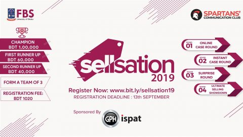 """Spartans' Communication Club presents """"Sellsation 2019"""" in Dhaka"""