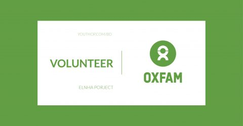 Volunteer – elnha porject for OXFAM Happening in Dhaka,2019