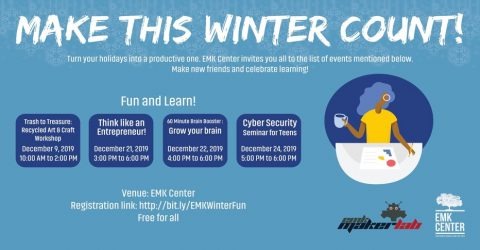 Fun and Learn: Make This Winter Count with EMK Center 2019