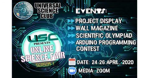 Universal Science Club Presents Online Science Fair 2020