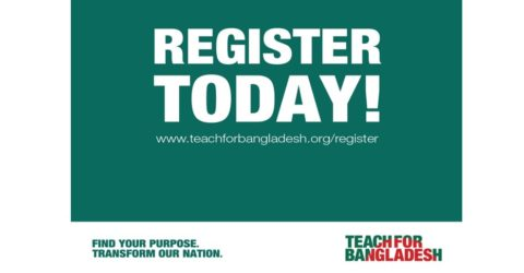 Applications Open for Teach For Bangladesh Fellowship in Bangladesh 2021
