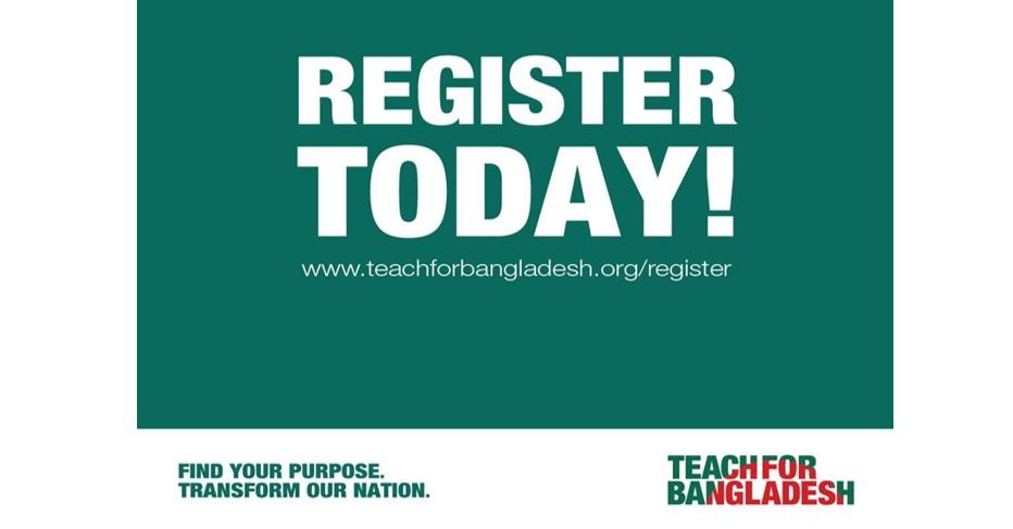 Applications Open for Teach For Bangladesh Fellowship in Bangladesh 2021
