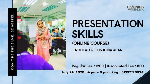 Presentation Skills (Online Course) hosted by Training with Rushdina 2020