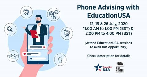 EMK Center presents Phone Advising with EducationUSA 2020