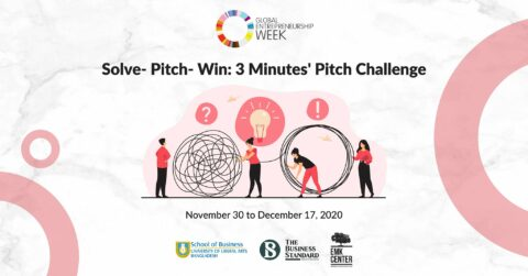Solve- Pitch- Win : 3 Minutes' Pitch Challenge 2020 in Bangladesh