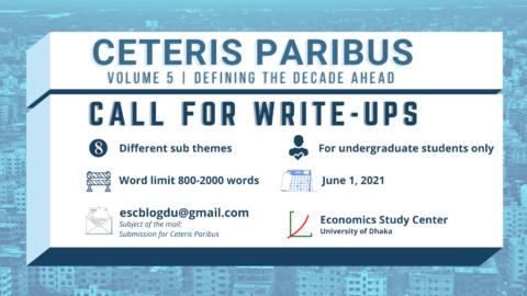 """Call for Write-ups: """"Ceteris Paribus Volume 5"""" 2021"""