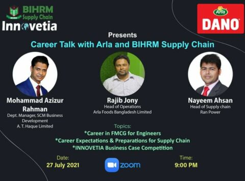 """BIHRM Supply Chain presents """"Career talk with Arla and BIHRM Supply Chain"""" 2021"""