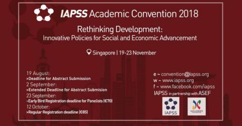 """المؤتمر الأكاديمي لـ """"IAPSS"""" عام 2018 في سنغافورة"""