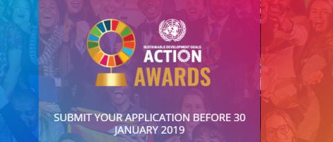 أرسل طلبك للحصول على جائزة UN SDG Action لعام 2019.