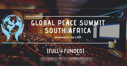 قمة السلام العالمية في جنوب أفريقيا2019 – تمويل كامل