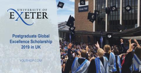 منحة الدراسات العليا للتميز العالمي لعام 2019 في المملكة المتحدة